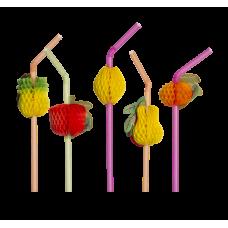 Canudo Decorativo Frutas